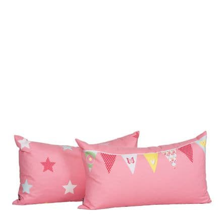 Manis-h Set of 2 Cushion Covers in a Bunting & Star Design